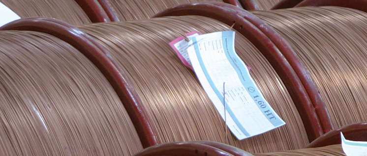 Bronze-plated bead wire